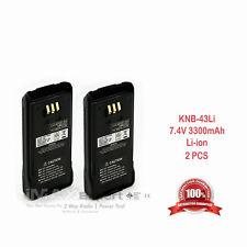 2 3300mAh Knb-33L Knb-43L Li-Ion Battery Kenwood Tk-2180 Tk-3180 Tk-5210 Tk-5310
