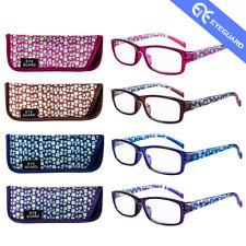 EYEGUARD Reading Glasses Spring Hinge Stylish Readers Fashion Women 4 Pairs/pack