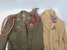 POST WWII US PARATROOPER 82nd AIRBORNE 456th FIELD ARTILLERY IKE JACKET DIs 1950
