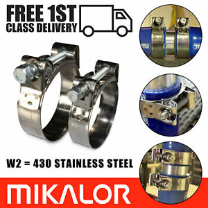 Mikalor Supra Hose Clamps 430 Stainless Steel W2 Clips Heavy Duty Exhaust T Bolt