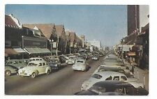 SAN MATEO CALIFORNIA  Busy Third Avenue - showing lots of automobiles