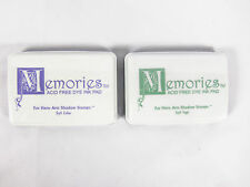 2 New Sealed Memories Acid Free Dye Ink Pads: Soft Lilac And Soft Sage