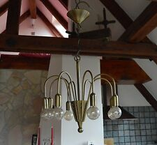 VTG Mid Century 1960's Sputnik chandelier Space Atomic age Modernism 8 Bulbs.