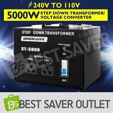 Step Down Stepdown Transformer Voltage Converter Volts 2 Plug 5000W 240V to 110V