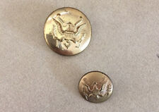 Mixed Lot 2 Vtg US Army Military  Eagle Brass Metal Shank Buttons 1.5 2.25cm