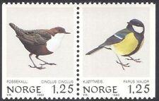 Norway 1980 Tit/Dipper/Birds/Nature/Wildlife/Conservation 2v bklt pr (n43094)