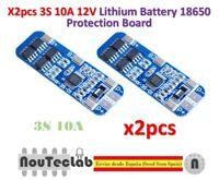 2pcs 3S 10A 12V Li-ion Lithium 18650 BMS PCM Battery Protection Board