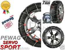 Catene Neve 7mm PEWAG SERVO SPORT RSS76 Jeep Renegade Gomme 215/60R17