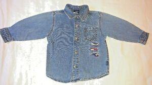Carter's Boys Long Sleeve Button Top Denim Look Size 3T