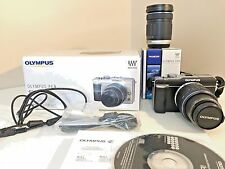 Olympus E-PL1 12.3MP Digital Camera - Black (Kit w/ 14-42mm and 40-150mm Lenses)