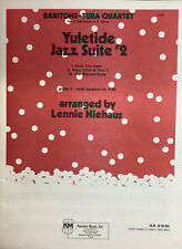 YULETIDE JAZZ SUITE #2 for baritone-tuba quartet. Gr. 3..