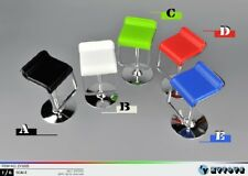 X1 White ZYTOYS ZY3005-B Plastic Adjustable Counter Chair Bar Stool 1/6 Scale