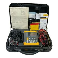 Fluke 199 Scopemeter 200mhz 25gss Dual Input Withcase Amp Accs Calibrated
