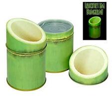 Matcha Dose Bambus, grün, 7,8 x 12 cm,  weißblech, 2fachem Deckel