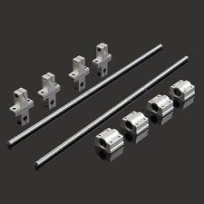 2 Set 8mm 400mm Linear Shaft Rod Rail Kit W/ Bearing Block For 3D Printer