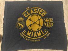 2017 El Clasico Miami July 29th BARCELONA V. REAL MADRID Towel Hard Rock Stadium