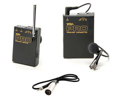 Pro PD170 WLM XLR M wireless lavalier mic for better Sony PD150 camcorder sound