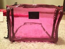 VICTORIA'S SECRET PINK DOG TRANSPARENT CLEAR JELLY PLASTIC CLUTCH CROSSBODY BAG
