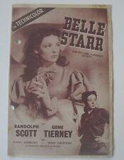 Original Movie Film Program BELLE STARR.1941. Programa de mano, cine