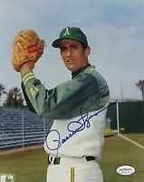 ROLLIE FINGERS A`S SIGNED JSA CERT STICKER 8X10 PHOTO AUTOGRAPH AUTHENTIC
