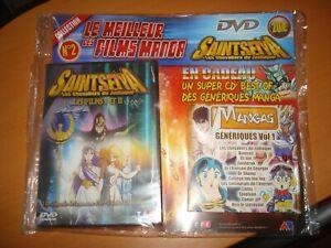 saint seiya pack AB prod ( Club Dorothée )inclus dvd + cd audio Manga Génériques