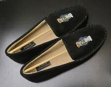 Polo Ralph Lauren Men's Polo Bear Faux-Suede Black Moccasin Slippers Size 9 NEW