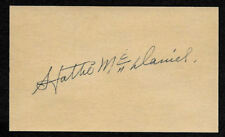 Hattie McDaniel Mammy Gone With The Wind Autograph Reprint On Old 1940 3x5 Card