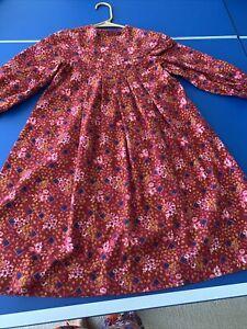 Laura Ashley Girls size 10 Dusty Rose Lace Dress Flannel