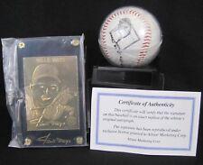 2000 All-Star Marketing, Willie Mays, 22k Gold Card & Photoball Baseball - HOF