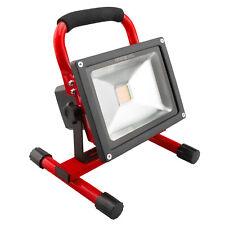 NINETEC 20W LED Akku Strahler Flutlicht Arbeitsleuchte Baustrahler IP65 Rot