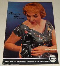 Revue 1956 Nouvelles WELLA N°4 Produits & Accessoires pour les cheveux Vintage