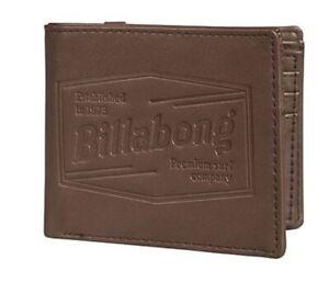 "portefeuille porte-cartes porte-monnaie BILLABONG marron ""junction"" - neuf"