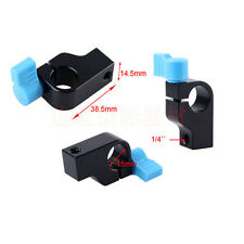 "15mm Rod Clamp Holder ""1/4"" Thread DSLR Camera Rig Rail Support System Arm"