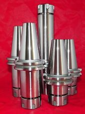 "CAT40 ER25 Precision Collet Chucks 5 PCs w Proj. 2.76""-4""-6"" Balance G2.5 @20K"