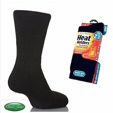 6 Pairs Mens GENUINE Thermal Winter Warm Heat Holders Socks size 6 - 11 uk Black