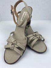 Vintage Grasshoppers Khaki Strappy Heels Sandals 8.5