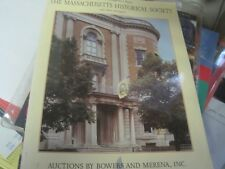 MASSACHUSETTS HISTORICAL SOCIETY COIN AUCTION CATALOG BOWERS AND MERENA 1994