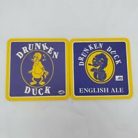 2 - Drunken Duck English Ale Beer Coasters