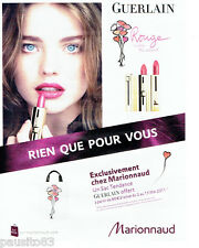 PUBLICITE ADVERTISING  056  2011  Guerlain  Marionnaud Rouge Barbara Palvin