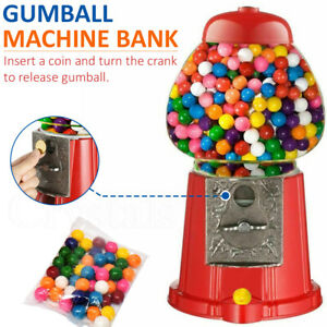 Gumball Vending Machine Gum Dispenser Toy Fun Coin Bank 90g Bubble Gum Included