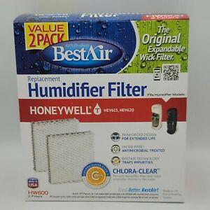 BestAir HW600 2-pack Chlora-Clear Humidifier Filter Honeywell HEV615 HEV620