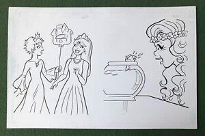 """Original Coloring Book Artwork """"PRINCESS"""" Dan Parent signed by inker goldfish"""