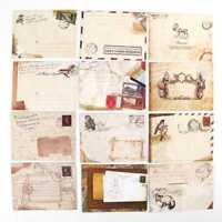 12 Stück Briefumschlag Schönes Western Retro-Stil Mini Umschlag Geschenk/ II33