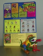 Rare 1988 Vintage Teenage Mutant Hero Turtles  LEATHERHEAD Figure + backing card