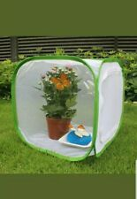 2 Insect Cage Foldable Butterfly Habitat Mesh Portable Zipper 12x12x12 w/sleeve