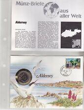 Numisbriefe aus aller Welt - Alderney - und Infokarte