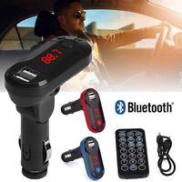 Bluetooth Wireless FM Transmitter MP3 Player Handsfree Car Kit USB TF SD RemoteA