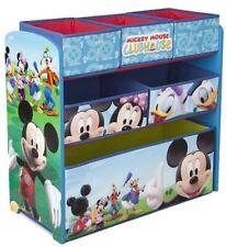 Mickey Mouse Childrens Bedroom Toy Storage Organiser Unit Disney Multi Bin