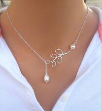 Fashion Charm Jewelry Pearl Choker Chunky Statement Bib Pendant Chain Necklace T