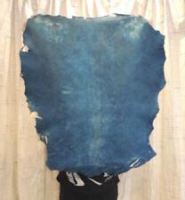 Waxy Aqua Full Grain Leather Hide for Native Crafts Buckskin Journals Bags
